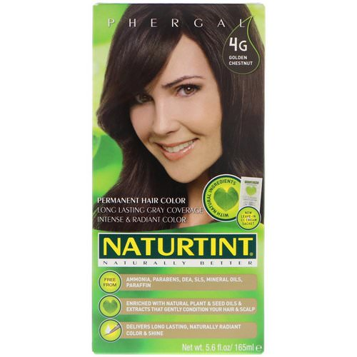 Naturtint, Permanent Hair Color, 4G Golden Chestnut, 5.6 fl oz (165 ml) Review