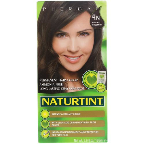 Naturtint, Permanent Hair Color, 4N Natural Chestnut, 5.6 fl oz (165 ml) Review