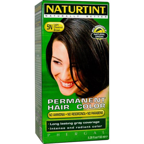 Naturtint, Permanent Hair Color, 5N Light Chestnut Brown, 5.28 fl oz (150 ml) Review