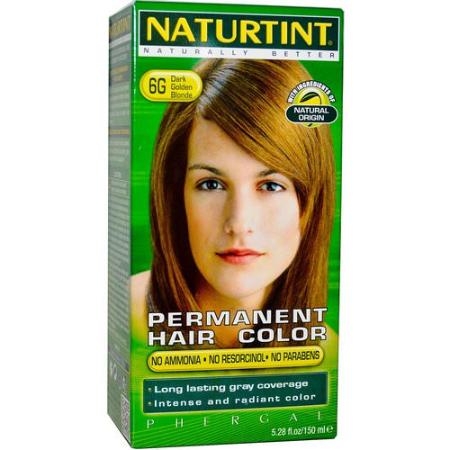 Naturtint, Permanent Hair Color, 6G Dark Golden Blonde, 5.28 fl oz (150 ml) Review