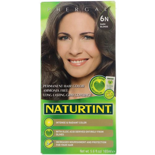 Naturtint, Permanent Hair Color, 6N Dark Blonde, 5.6 fl oz (165 ml) Review