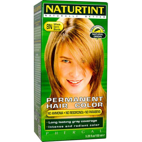 Naturtint, Permanent Hair Color, 8N Wheat Germ Blonde, 5.28 fl oz (150 ml) Review