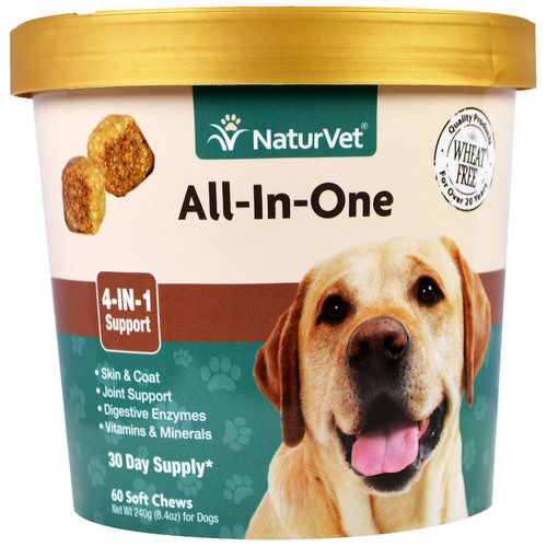 NaturVet, All-In-One, 4-In-1 Support, 60 Soft Chews, 8.4 oz. (240 g) Review