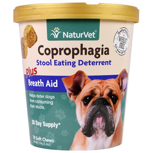 NaturVet, Coprophagia, Stool Eating Deterrent Plus Breath Aid, 70 Soft Chews, 5.4 oz (154 g) Review