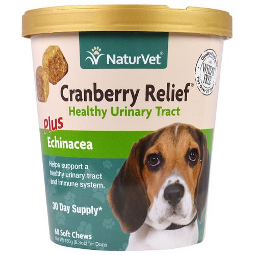NaturVet, Cranberry Relief For Dogs Plus Echinacea, 60 Soft Chews, 6.3 oz (180 g) Review