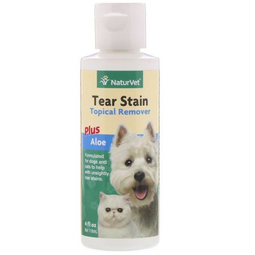 NaturVet, Tear Stain, Topical Remover Plus Aloe, For Dogs & Cats, 4 fl oz (118 ml) Review