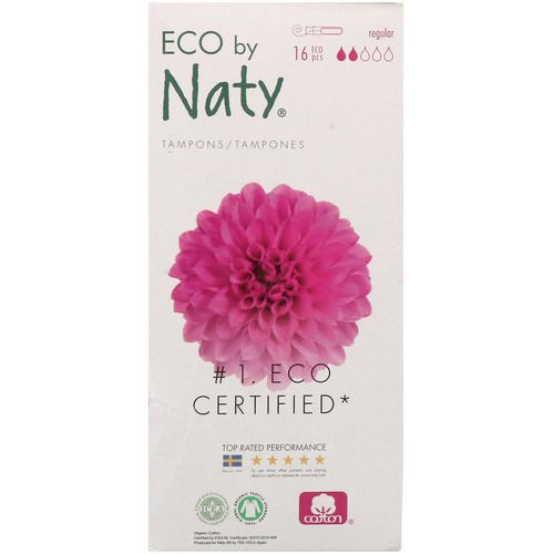 Naty, Tampons with Applicator, Regular, 16 Eco Pieces Review