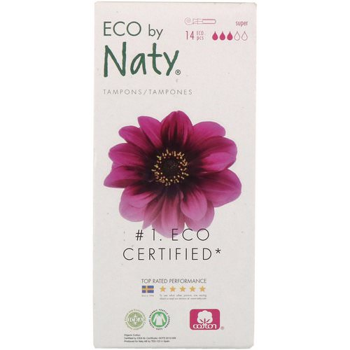 Naty, Tampons with Applicator, Super, 14 Eco Pieces Review
