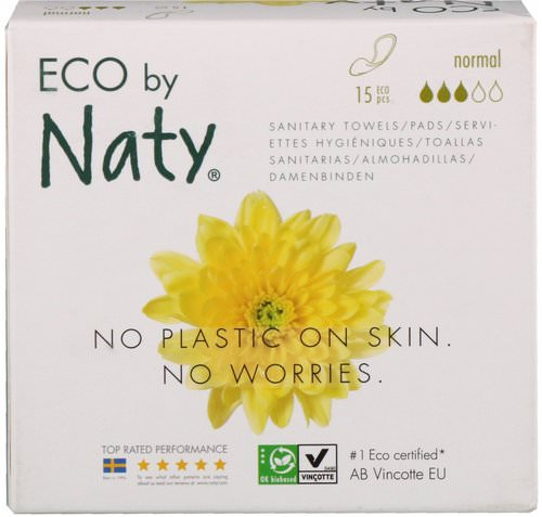 Naty, Thin Pads, Normal, 15 Eco Pieces Review