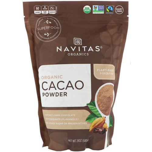 Navitas Organics, Organic Cacao Powder, 24 oz (680 g) Review