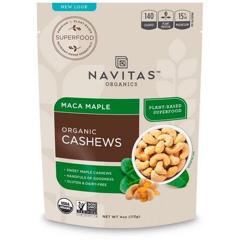 Navitas Organics, Organic Cashews, Maca Maple, 4 oz (113 g) Review