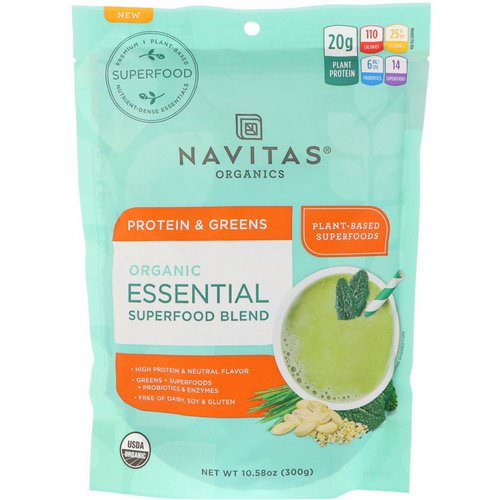 Navitas Organics, Organic Essential Superfood Blend, Protein & Greens, 10.58 oz (300 g) Review