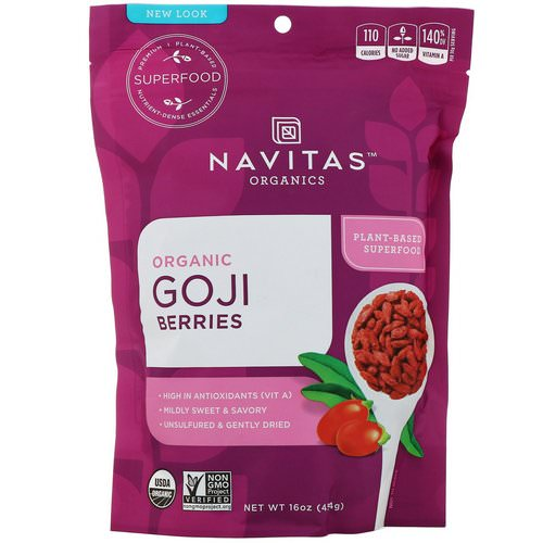 Navitas Organics, Organic Goji Berries, 16 oz (454 g) Review