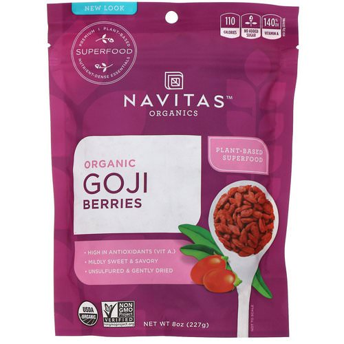 Navitas Organics, Organic Goji Berries, 8 oz (227g) Review