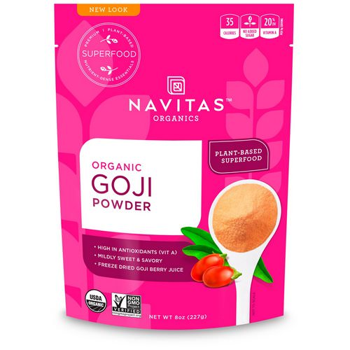 Navitas Organics, Organic Goji Powder, 8 oz (227 g) Review