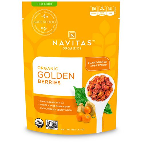 Navitas Organics, Organic Golden Berries, 8 oz (227 g) Review