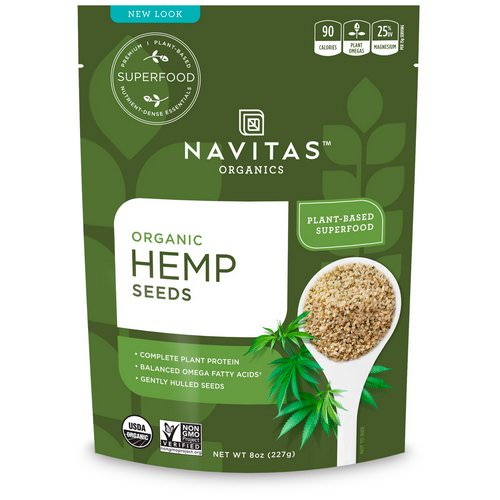 Navitas Organics, Organic Hemp Seeds, 8 oz (227 g) Review