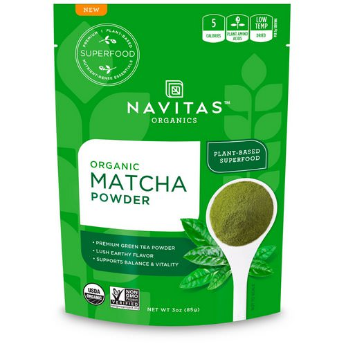 Navitas Organics, Organic Matcha Powder, 3 oz (85 g) Review