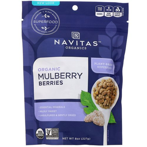 Navitas Organics, Organic Mulberry Berries, 8 oz (227 g) Review