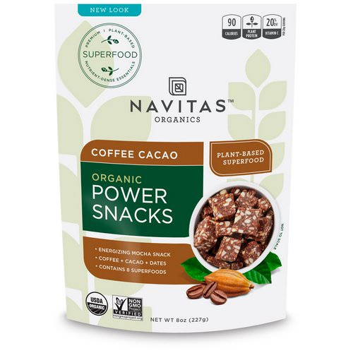 Navitas Organics, Organic Power Snacks, Coffee Cacao, 8 oz (227 g) Review