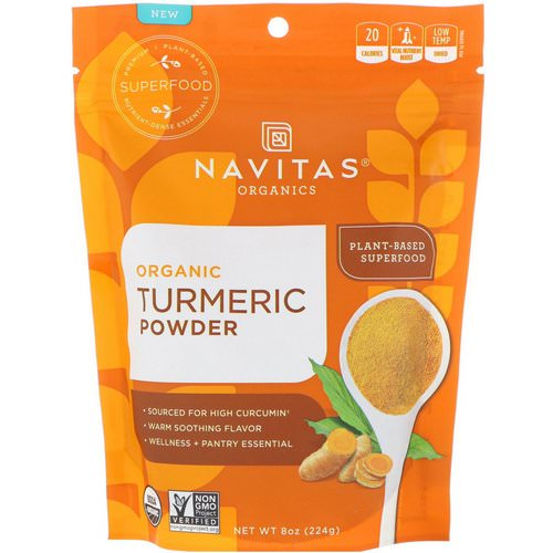 Navitas Organics, Organic Turmeric Powder, 8 oz (224 g) Review