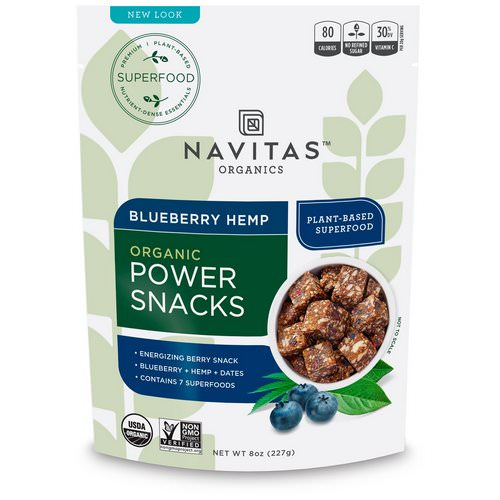 Navitas Organics, Power Snacks, Blueberry Hemp, 8 oz (227 g) Review