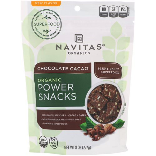 Navitas Organics, Power Snacks, Chocolate Cacao, 8 oz (227 g) Review