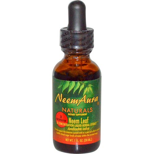 NeemAura, Neem Leaf, 3X Concentration, Extract, 1 fl oz (30 ml) Review