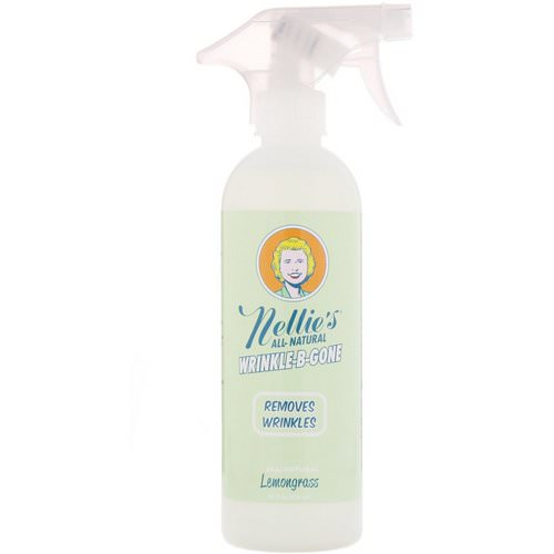 Nellie's, All-Natural, Wrinkle-B-Gone, Removes Wrinkles, Lemongrass, 16 fl oz (474 ml) Review