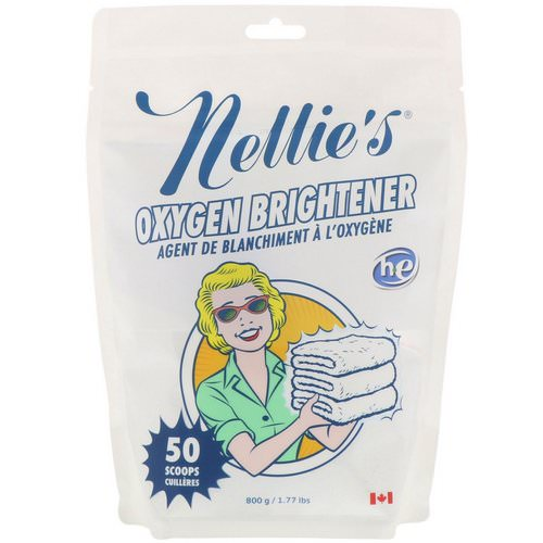 Nellie's, Oxygen Brightener, 50 Scoops, 1.77 lbs (800 g) Review