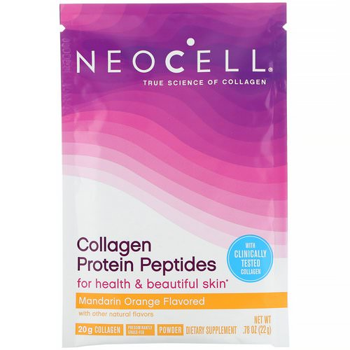 Neocell, Collagen Protein Peptides, Mandarin Orange, .78 oz (22 g) Review