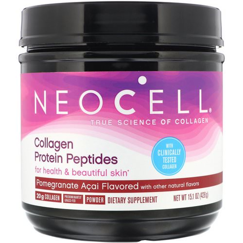 Neocell, Collagen Protein Peptides, Pomagranate Acai, 15.1 oz (428 g) Review