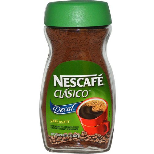 Nescafe, Clasico, Pure Instant Decaffeinated Coffee, Decaf, Dark Roast, 7 oz (200 g) Review
