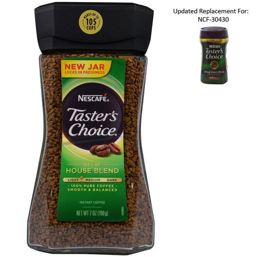 Nescafe, Taster's Choice, Instant Coffee, Decaf House Blend, 7 oz (198 g) Review