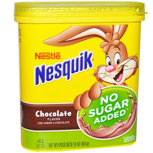 Nesquik, Nestle, Chocolate Flavor, No Sugar Added, 16 oz (453 g) Review