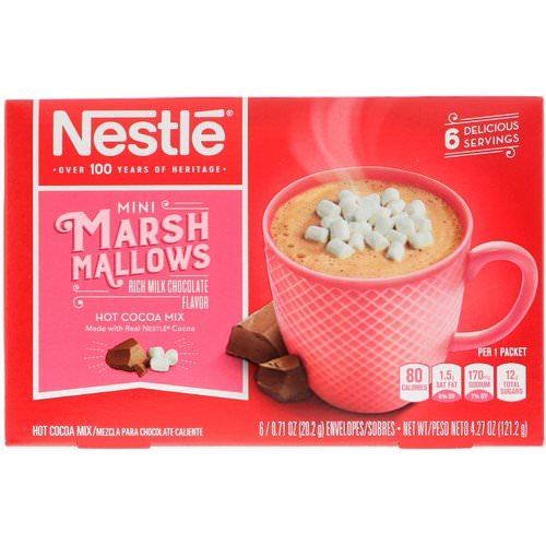 Nestle Hot Cocoa Mix, Mini Marshmallows, Rich Milk Chocolate Flavor, 6 Envelopes, 0.71 oz (20.2 g) Each Review