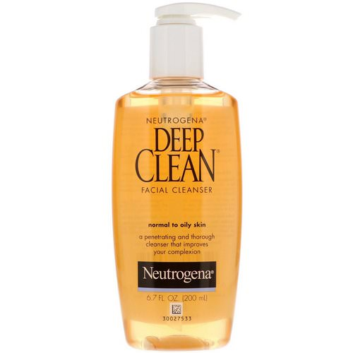 Neutrogena, Deep Clean, Facial Cleanser, 6.7 fl oz (200 ml) Review