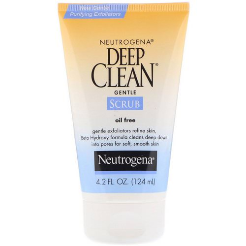 Neutrogena, Deep Clean, Gentle Scrub, Oil Free, 4.2 fl oz (124 ml) Review