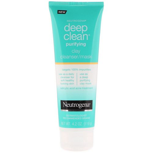 Neutrogena, Deep Clean, Purifying, Clay Cleanser/Mask, 4.2 oz (119 g) Review