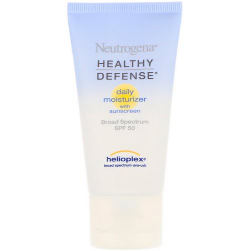 Neutrogena, Healthy Defense, Daily Moisturizer with Sunscreen, Broad Spectrum SPF 50, 1.7 fl oz (50 ml) Review