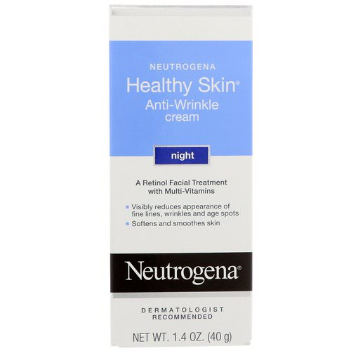 Neutrogena, Healthy Skin, Anti-Wrinkle Cream, Night, 1.4 oz (40 g) Review