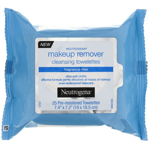 Neutrogena, Makeup Remover Cleansing Towelettes, Fragrance-Free, 25 Pre-Moistened Towelettes Review
