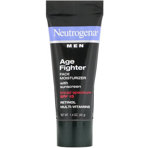 Neutrogena, Men, Age Fighter Face Moisturizer with Sunscreen, SPF 15, 1.4 oz (40 g) Review