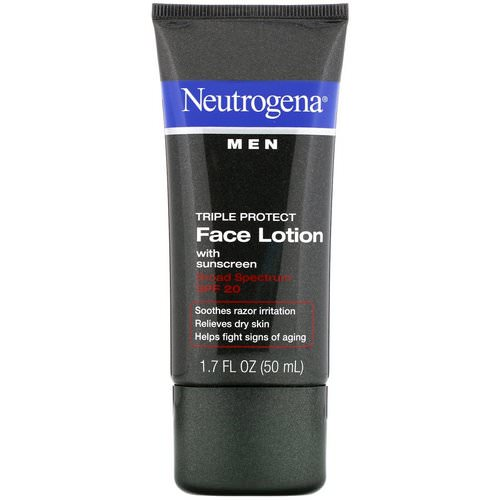 Neutrogena, Men, Triple Protect Face Lotion with Sunscreen, SPF 20, 1.7 fl oz (50 ml) Review