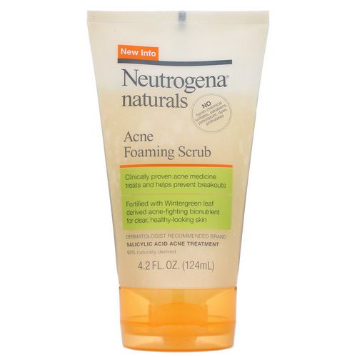 Neutrogena, Naturals, Acne Foaming Scrub, 4.2 fl oz (124 ml) Review