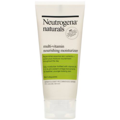Neutrogena, Neutrogena, Naturals, Multi-Vitamin Nourishing Moisturizer, 3 fl oz (88 ml) Review