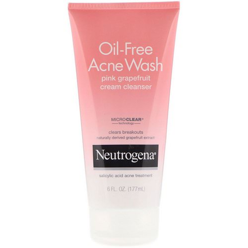 Neutrogena, Oil-Free Acne Wash, Pink Grapefruit Cream Cleanser, 6 fl oz (177 ml) Review