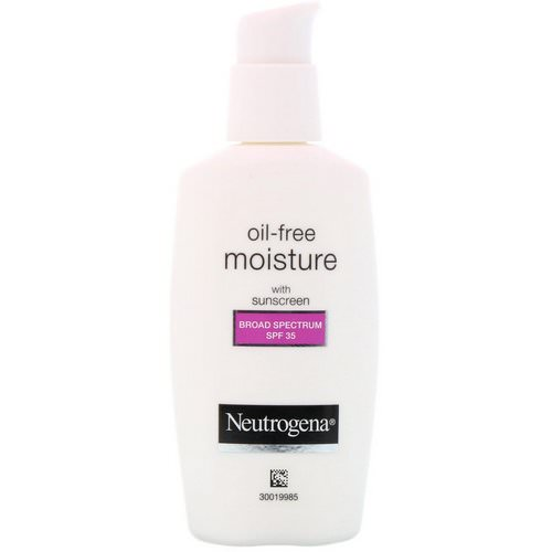 Neutrogena, Oil Free Moisture, Facial Moisturizer with UVA/UVB Protection, Broad Spectrum SPF 35, 2.5 fl oz (73 ml) Review