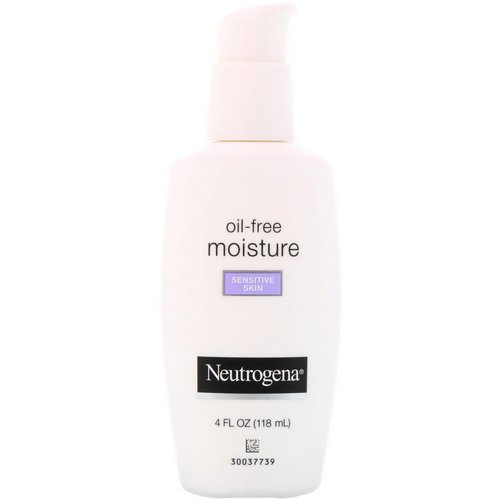 Neutrogena, Oil Free Moisture, Ultra-Gentle Facial Moisturizer, Sensitive Skin, 4 fl oz (118 ml) Review