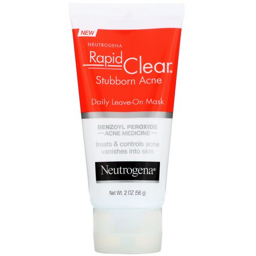 Neutrogena, Rapid Clear, Stubborn Acne, Daily Leave-On Mask, 2 oz (56 g) Review
